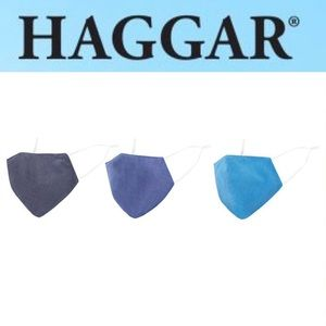 🆕 Haggar 3pk Face Mask -Solid colours